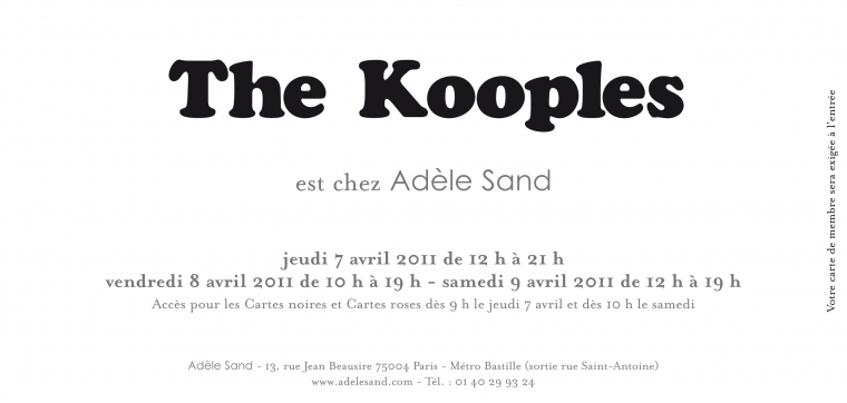 The Kooples, Petit Bateau et Vanessa Bruno chez Adle Sand en avril