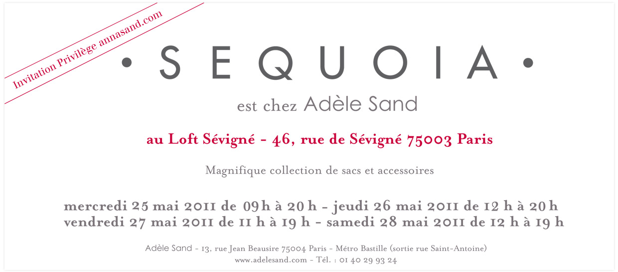 Vente prive Sequoia chez Adle Sand