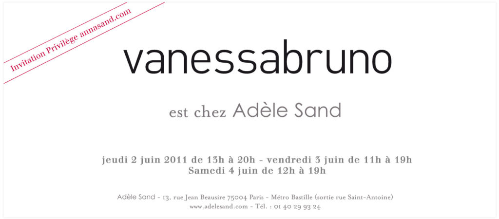 Vente prive Vanessa Bruno chez Adle Sand