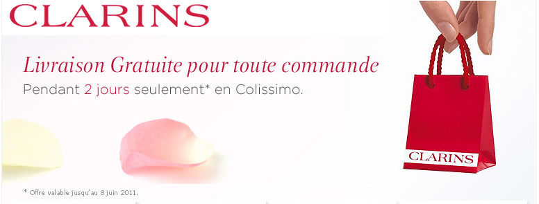 Clarins propose la livraison gratuite jusqu&rsquo; demain