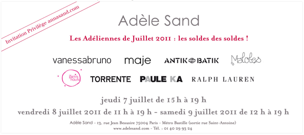 Soldes chez Adle Sand