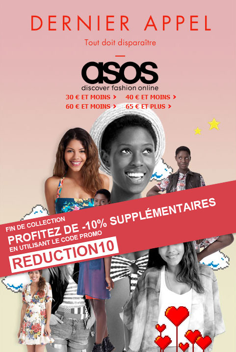 -10% supplmentaires sur les fins de collection Asos
