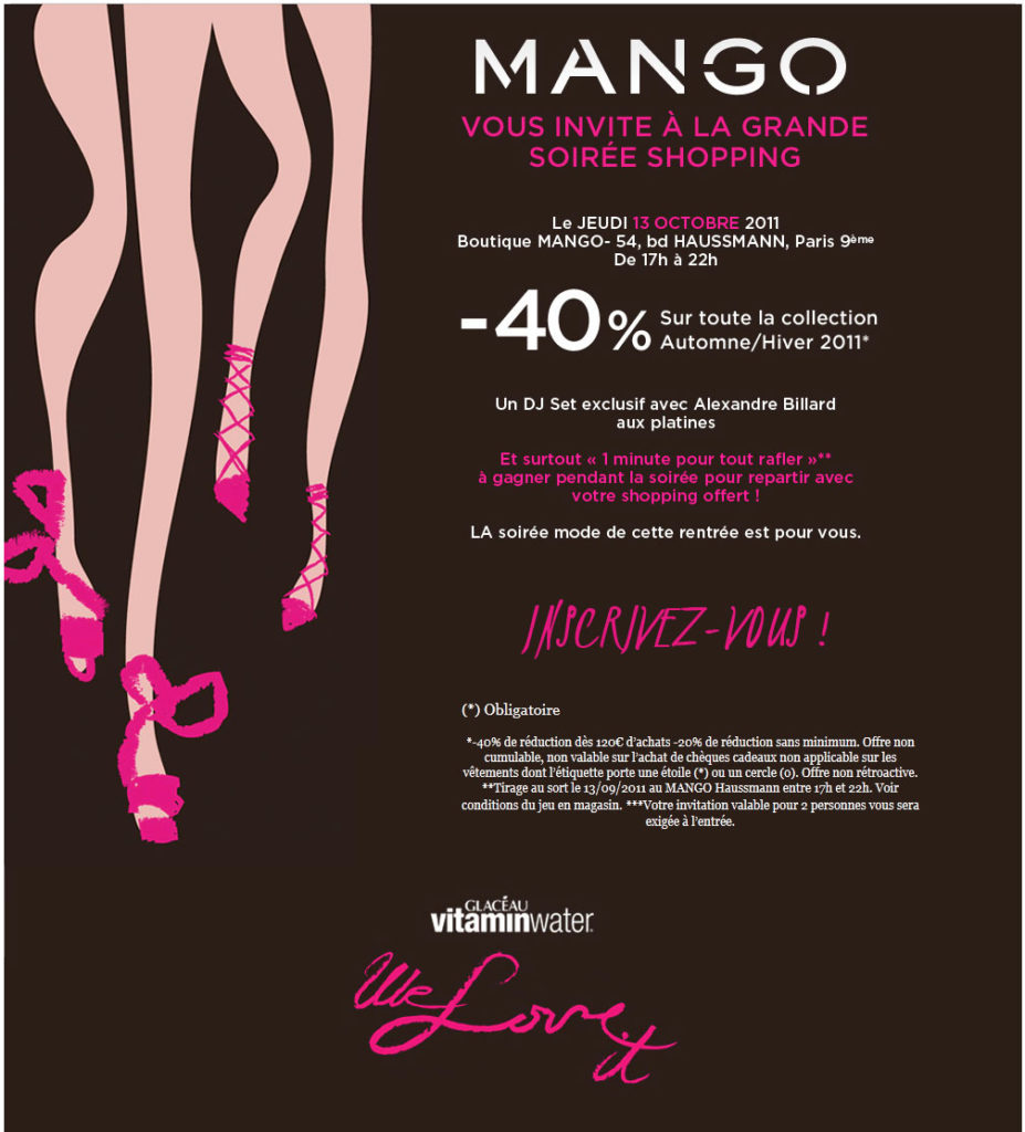 Mango Shopping Party &#8211; Octobre 2011