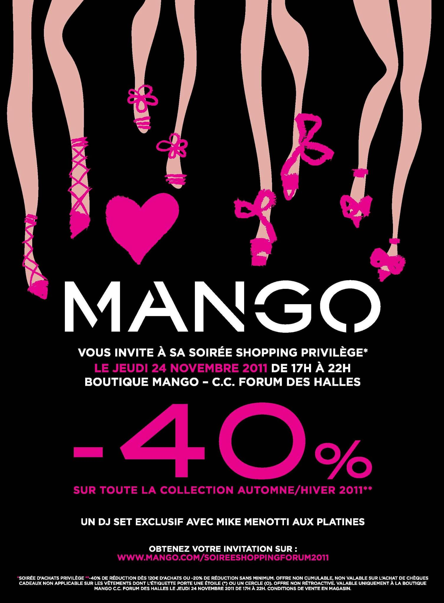 Mango Shopping Party &#8211; Novembre 2011