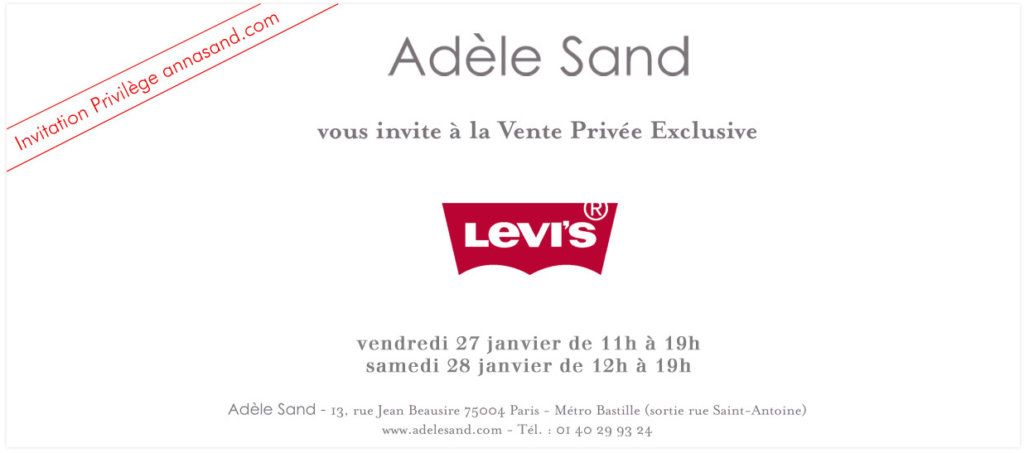 Vente prive Levi&rsquo;s chez Adle Sand