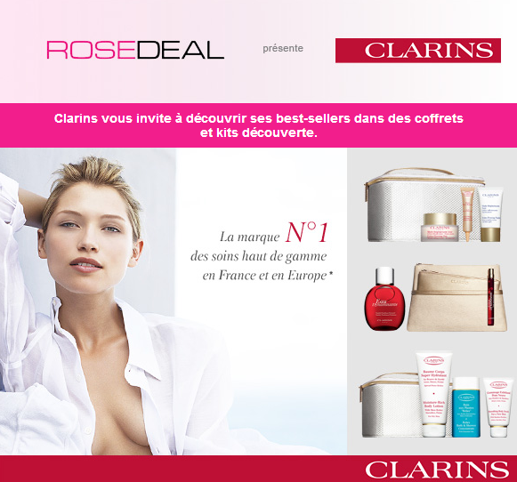 Vente prive Rosedeal Clarins
