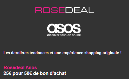 Un Rosedeal Asos  ne pas louper !